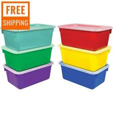 77 Litre BLACK 60 x 40cm Plastic Storage Boxes Containers Crates Totes with Lids