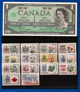 Image Is Loading 1967 Stamps CANADA Set Canadian CENTENNIAL One 1