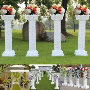 Weisse-roemischen-Saeuler-aus-kunststoff-Blumensaeuler-Blumenstaender-fuer-Hochzeit