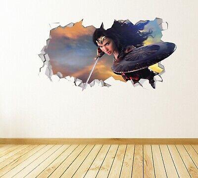 Wonder Woman Action Custom Wall Decals 3D Wall Stickers Art JS915