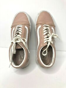 Vans Size 6.5 men 8 women Pink Leather
