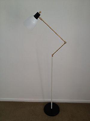 "Petit STILNOVO Eames ARTELUCE Adjustable ""Z"" FLOOR LAMP Mid Century MARBLE BASE"