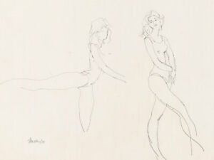 Peter Collins ARCA - Signed 1979 Graphite Drawing, The Dancers