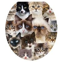 Toilet Tattoos Toilet Seat Cover - Cats Cats Cats - Round /standard on sale