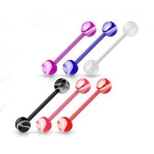 Tongue 6pc Flexible Body Jewelry Acrylic Body Piercing Jewelry Body Jewelry