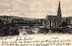 Stuttgart-Johanniskirche-mit-Feuersee-1901