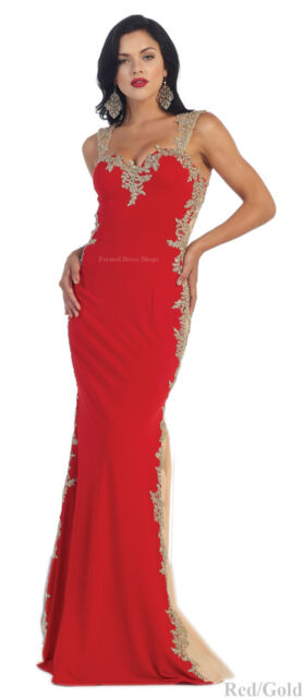 Stretchy Evening Formal Dance Prom Gown Red Carpet Gala Pageant