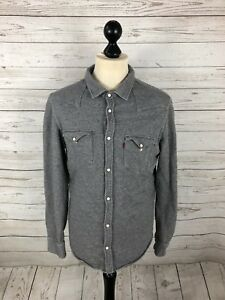 LEVI-S-Shirt-Size-Small-Grey-Great-Condition-Men-s