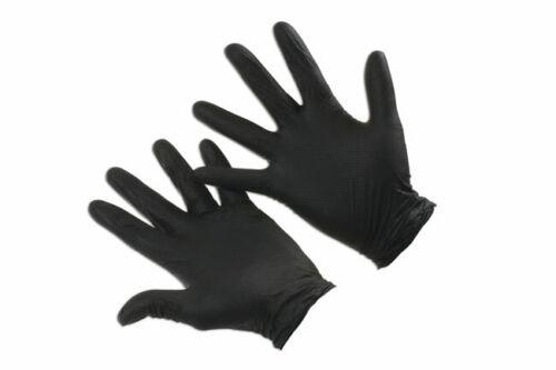 50 pieces//25 paires Connect 37305 Grippaz Medium Black nitrile Gants Box