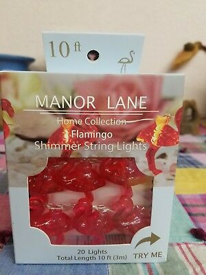 Manor Lane Shimmer Lights Led String Flamingo 20 Lights