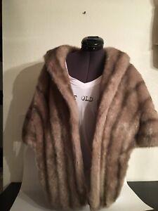 Vintage-Faux-Fur-Stole-Wrap
