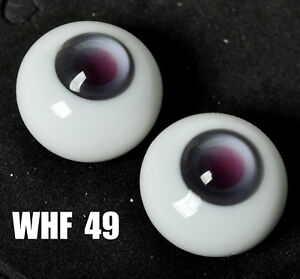 Nice Round 14MM Glass White Pupil/&BlueIris BJD Eyes for AOD luts 1//4 BJD Doll