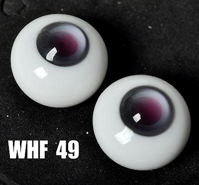 NICE Round 8mm DarkGrey Glass Eyes for OOAK BJD Dollfie