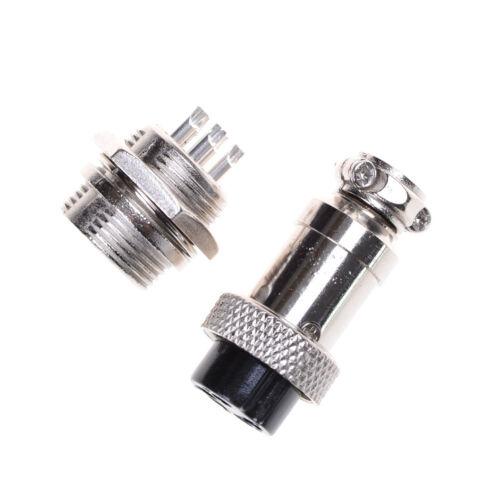 Aviation Plug 2//3//4//5//6//7//8 Pin 16mm GX16-4 Metall Steckerleisten PTYI HRSDE