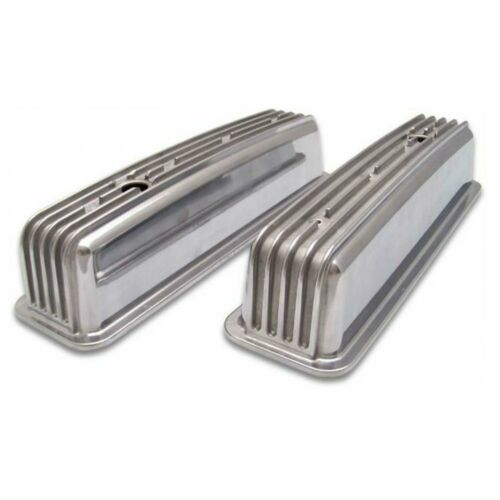 Vintage Center Bolt Tall Finned Valve Covers w// Breather HolesSmall Block Chev