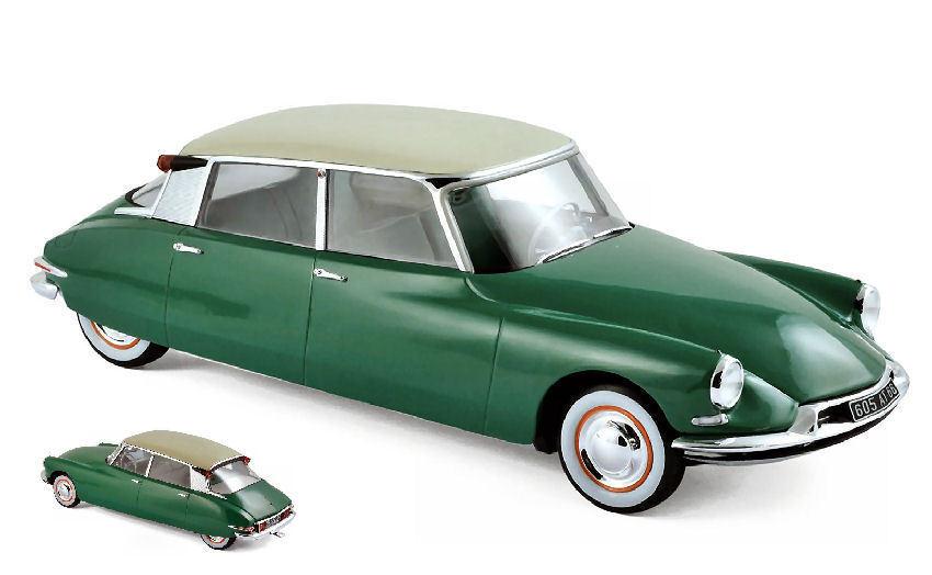 Citroen Ds 19 1956 verde   Champagne 1 18 Model 181480 NOREV