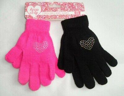 Intenzionale 2 Pack Cuore E Stella Jewel Magic Gloves Set Bambine Bambini Taglia Unica-mostra Il Titolo Originale