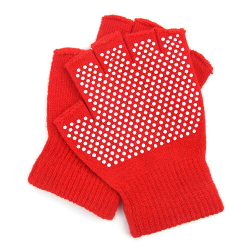 1Pair Cotton Breathe Non slip Half Finger Gym Training Gloves Fitness Yoga NATA
