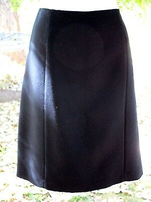 Michelle Womens Size 12 Black A-Line Skirt Knee Length