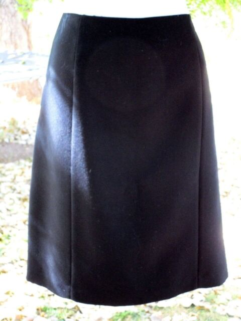 Michelle Womens Size 12 Black A-Line Skirt Knee Length