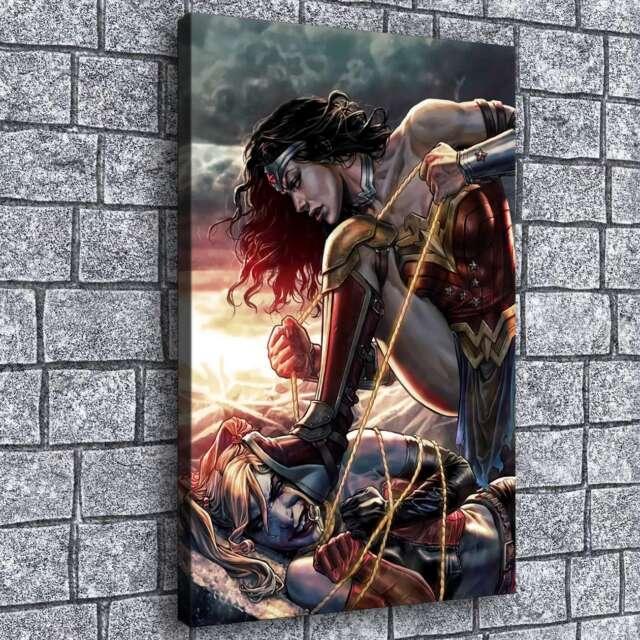 Oil Painting HD Print Wall Decor Art on Canvas Wonder Woman 3pcs Unframed