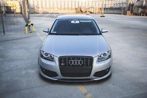 Cup-Spoilerlippe-fur-Audi-S3-8P-Lippe-Front-Diffusor-Ansatz-schwert-Spoiler-fro