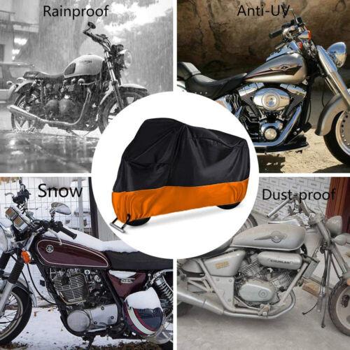 XXXL Motorcycle Cover Orange Waterproof For Harley Davidson Street Glide Touring