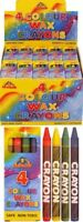 30 Packs 4 Mini Colouring Wax Crayons Lucky Dip Party Bag Pinata Toys Fillers UK