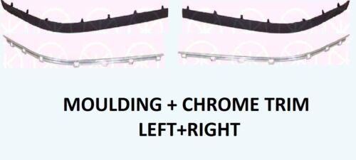 Chrome Trim SET Left Right 96-00 BMW e39 5 Series Front Bumper Moulding