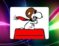 Peanuts Snoopy Versus The Red Baron Mouse Pad Rare Great Gift Schultz