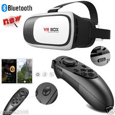 Bluetooth VR BOX Virtual Reality 3D Glasses Gaming Remote Control For Smartphone