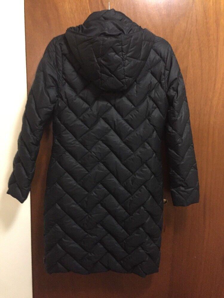100% Authentic Moncler Duvet Down Coat Winter Long Hoodie Hoodie Hoodie Coat Size  0 0672b3