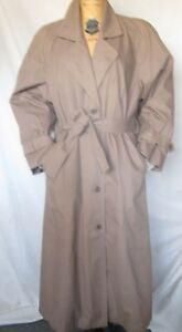 LONDON-FOG-Khaki-Women-039-s-All-Season-Trench-Coat-Belt-amp-Removable-Lining-SZ-10