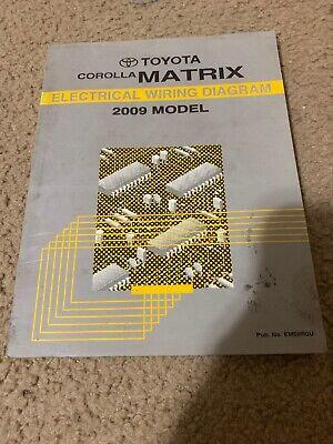Toyota Corolla Matrix Electrical Wiring Diagram 2009 Model ...