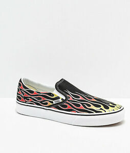 Details zu Vans Slip On FLAMES Mash Up Shoes (NEW) Mens Sizes 9 12 FIRE FLAME Free Shipping