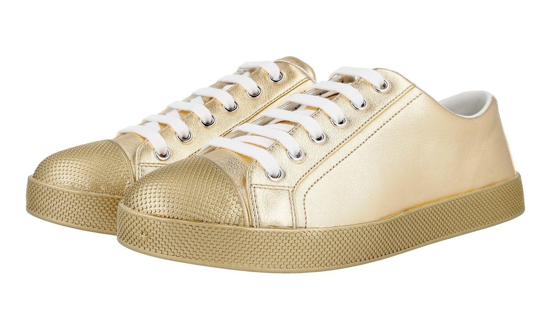 Lujo prada cortos cortos cortos zapatos 3e6202 platino nuevo New 37 37,5  salida para la venta