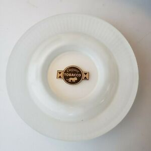Elegant Tobacco cigar ashtray frosted and clear glass lion logo vintage