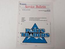 OEM Suzuki Supplementary Service Data Specification Spec Sheet Manual GSXR600 K2