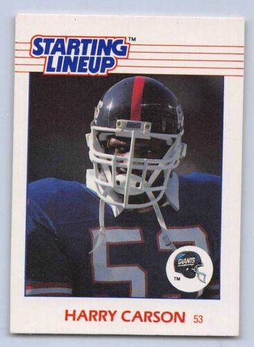 NEW YORK GIANTS 1988  HARRY CARSON Kenner Starting Lineup Card