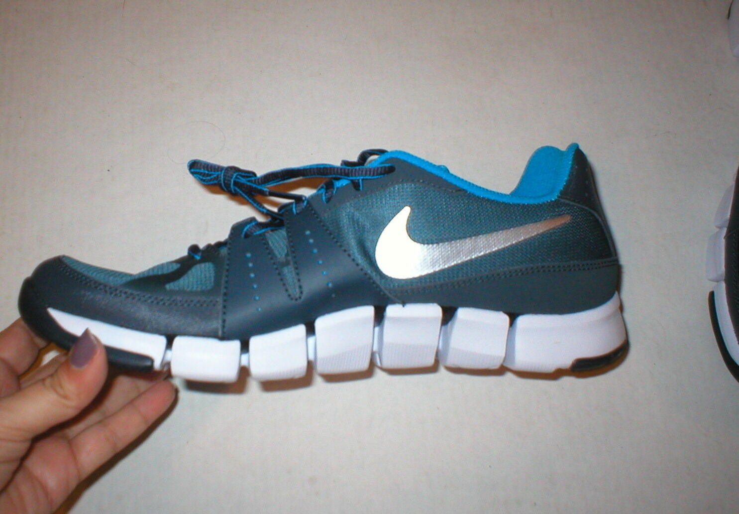 New Mens Nike Flex Training Running Shoes Sneakers 11 Blue Gray 12 Womens