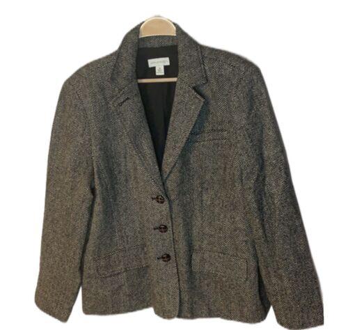 Appleseeds Tweed Blazer Jacket Sz 20 Brown Tweed L