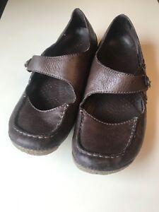 Clarks Air Cuero Señoras Corte Mujeres Tamaño Zapato plano 4 Marrón Active 37 Designer SHwCFSxTq