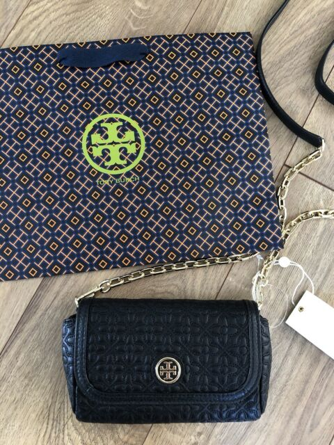 65e35439c73a Authentic Tory Burch Black Bryant Quilted Small Cross Body Bag 34029 ...