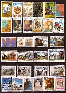 NICARAGUA-30-sellos-matasellados-temas-diversos-167T1