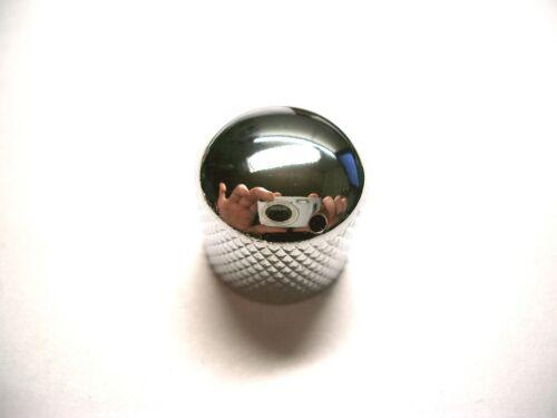 Poti-knopf CHROM mit schwarzem Markierungs-Dot göldo Dome Speed Knob