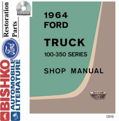 F350 1964 OEM Digital Repair Maintenance Shop Manual CD for Ford Truck F100