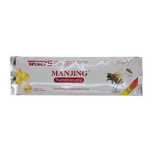 20-Strips-Manjing-Wangshi-Flumethrin-Strip-Varroa-Mite-Killer-Beekeeping-Tool