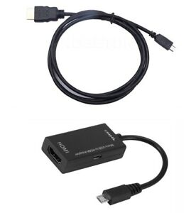 MicroUSB-Micro-USB-HDMI-MHL-Cable-Adapter-Tablet-Smart-Phone-HDTV-TV-Android