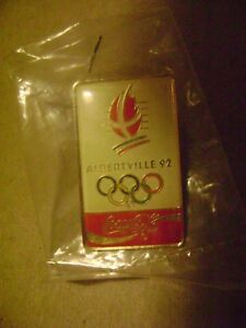 Coca Cola Official Soft Drink of 1992 Winter Games in Albertville France Commemorative Poster Series Vintage 1924 Chamonix Olympic Pin