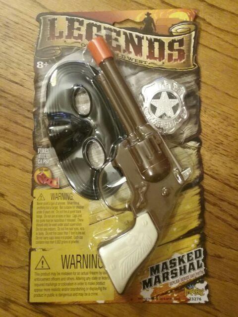 Wild West Marshal Replica Revolver CAP GUN TOY 8 Shot Ring Caps Pistol Handgun